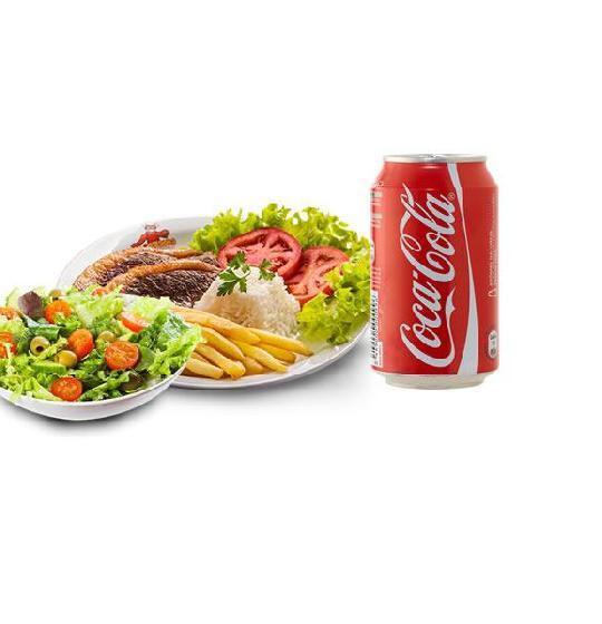 Picanha, refri e salada